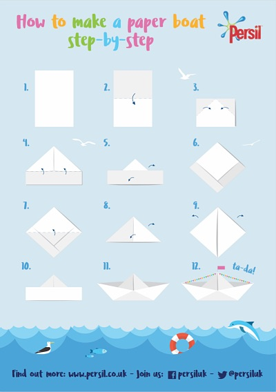How To Make Paper Boat Origami Boat Instruction
